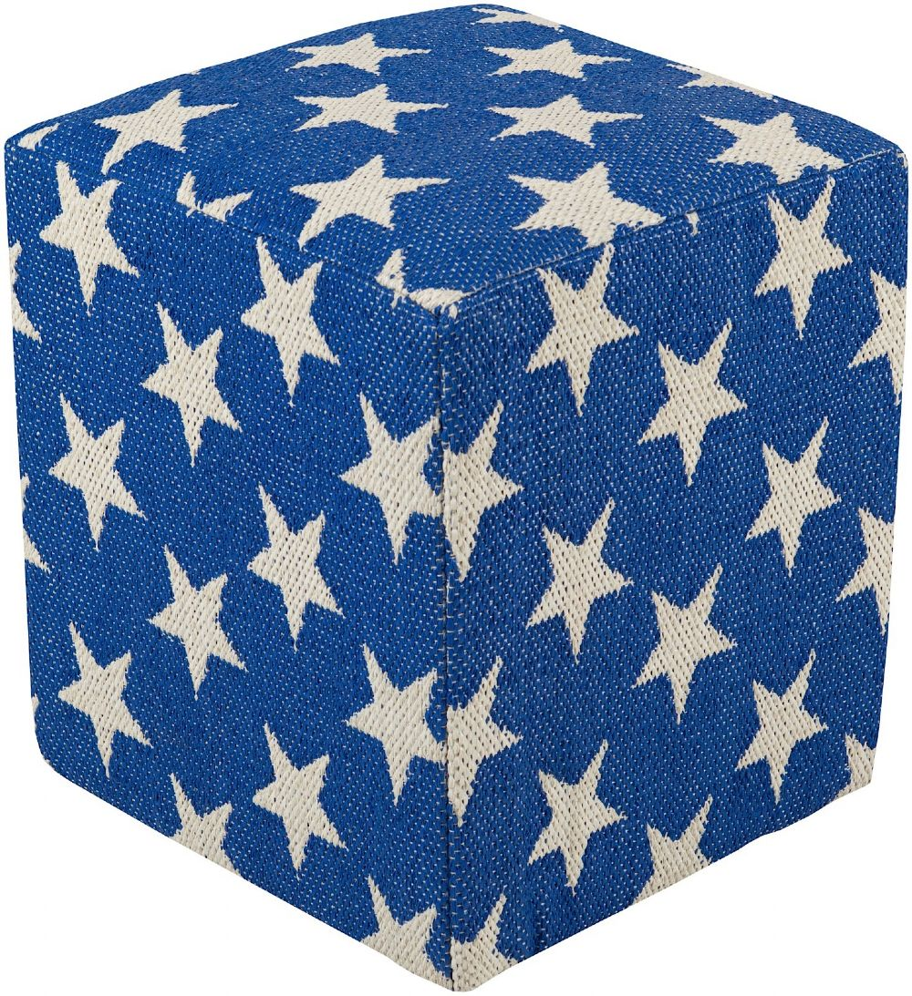 surya picnic contemporary pouf/ottoman collection