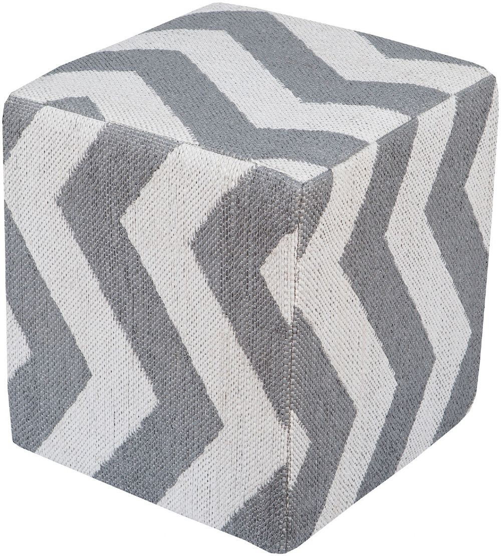 surya picnic ii contemporary pouf/ottoman collection