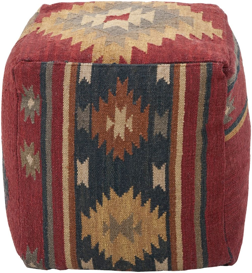 surya surya poufs solid/striped pouf/ottoman collection