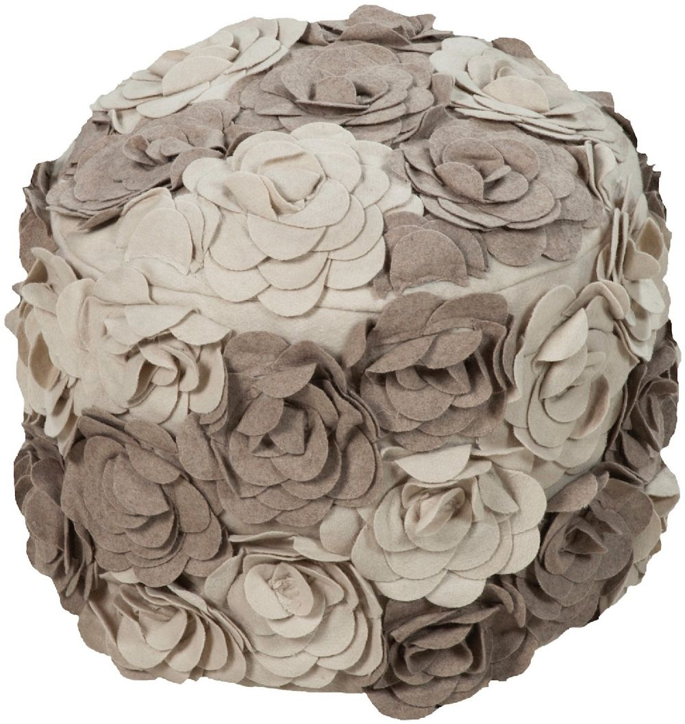 surya surya poufs country & floral pouf/ottoman collection