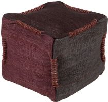 Surya Solid/Striped Continental pouf/ottoman Collection