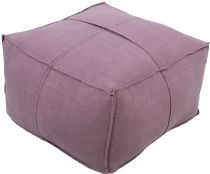 Surya Contemporary Solid Linen pouf/ottoman Collection