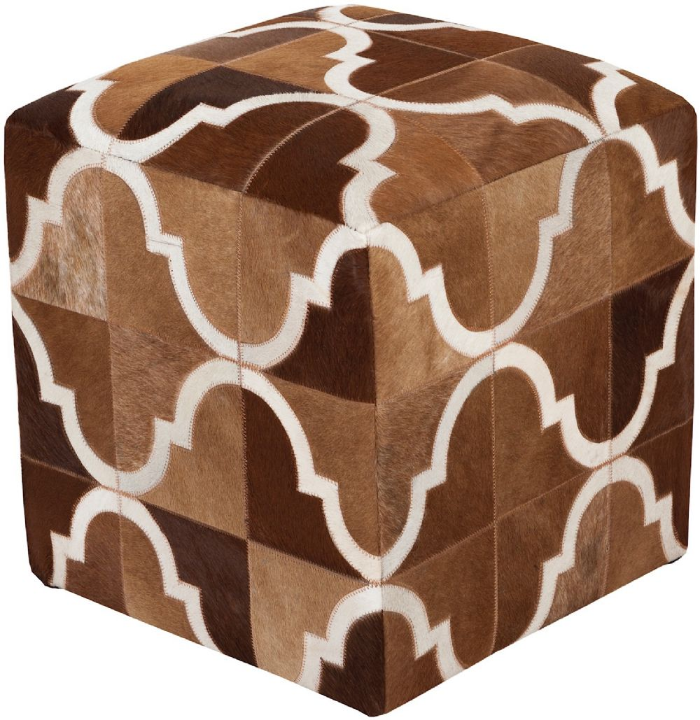 surya trail animal inspirations pouf/ottoman collection