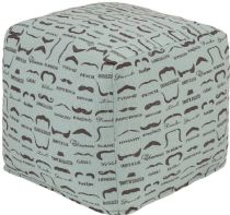 Surya Contemporary Wax That Stache pouf/ottoman Collection
