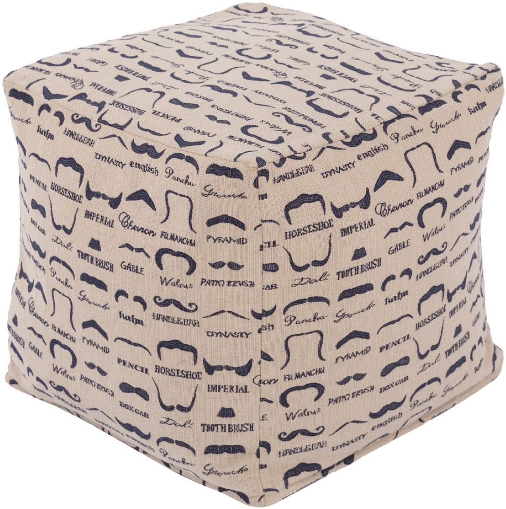 surya wax that stache contemporary pouf/ottoman collection