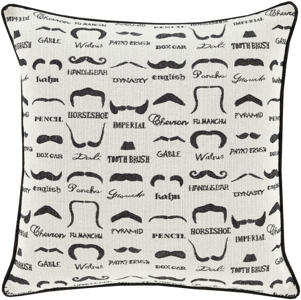 surya wax that stache contemporary decorative pillow collection