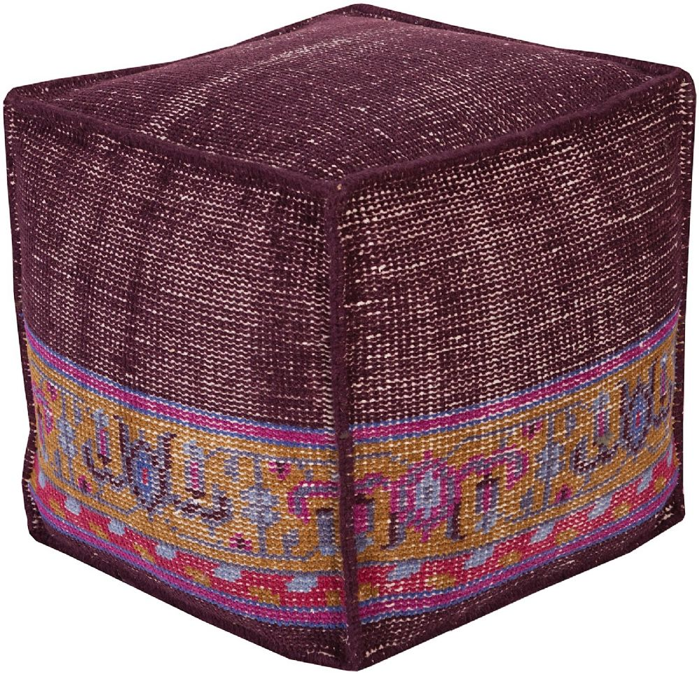 surya zahara contemporary pouf/ottoman collection