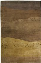 Rectangle Area Rug, Hand Knotted Rug, Tribal, Organza, Rizzy Rugs Rug
