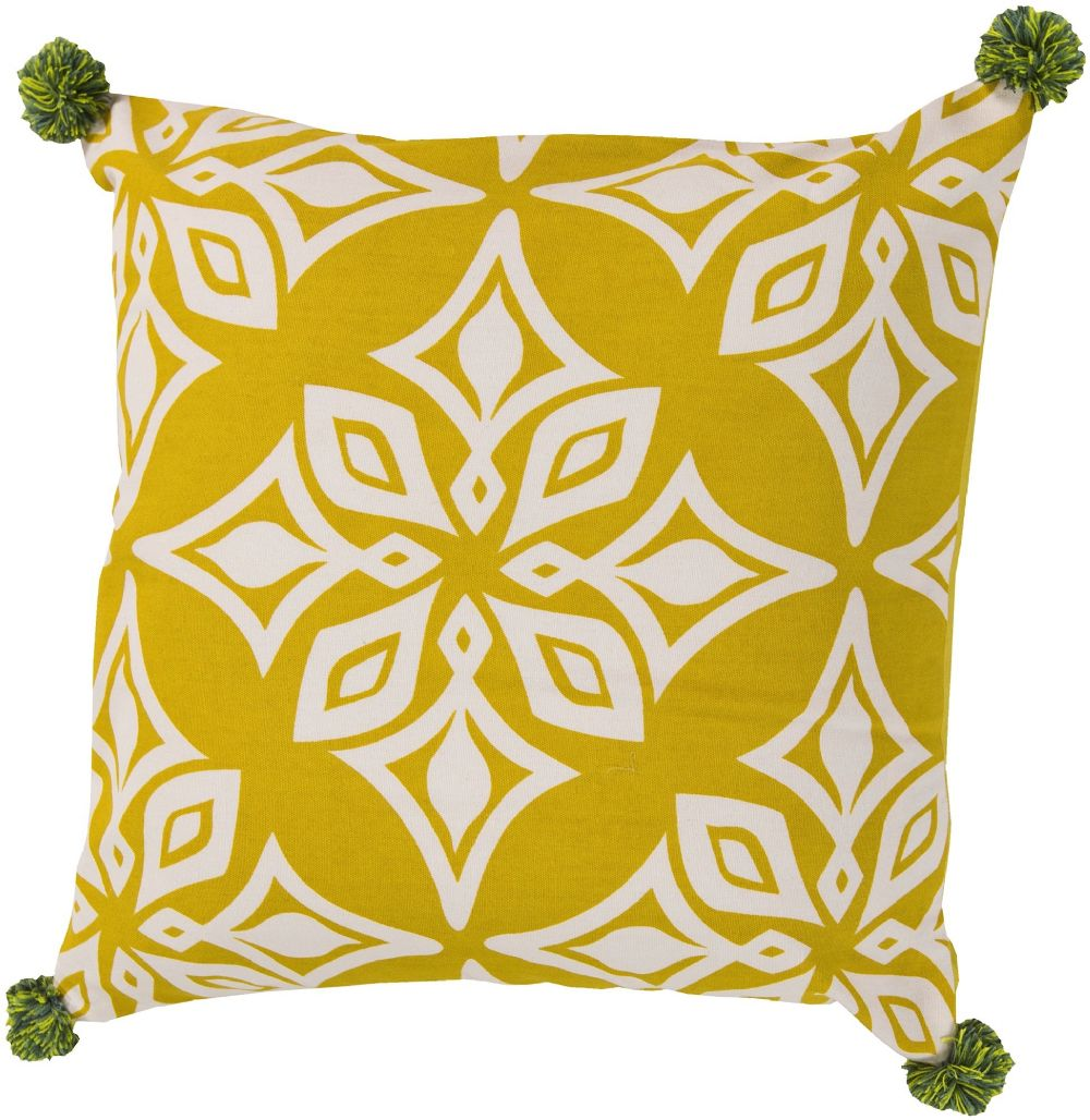 surya pom pom contemporary decorative pillow collection