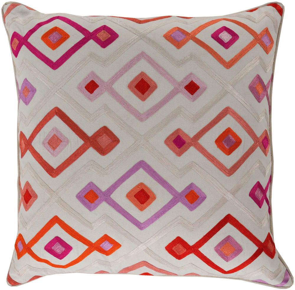 surya woven geo contemporary decorative pillow collection