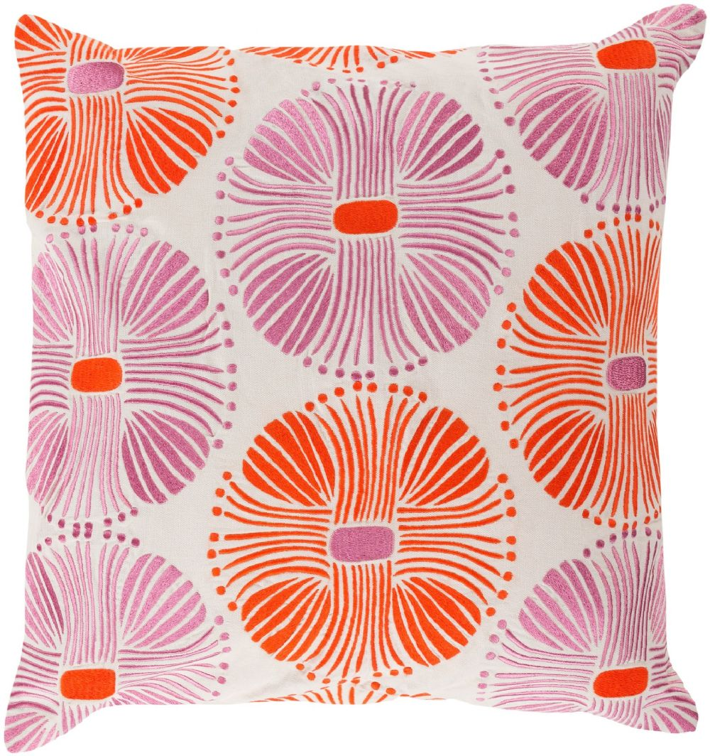 surya multi burst contemporary decorative pillow collection