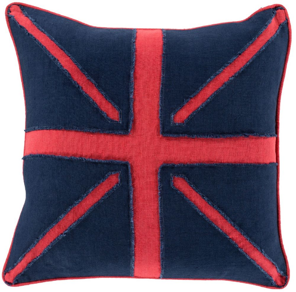 surya linen flag contemporary decorative pillow collection