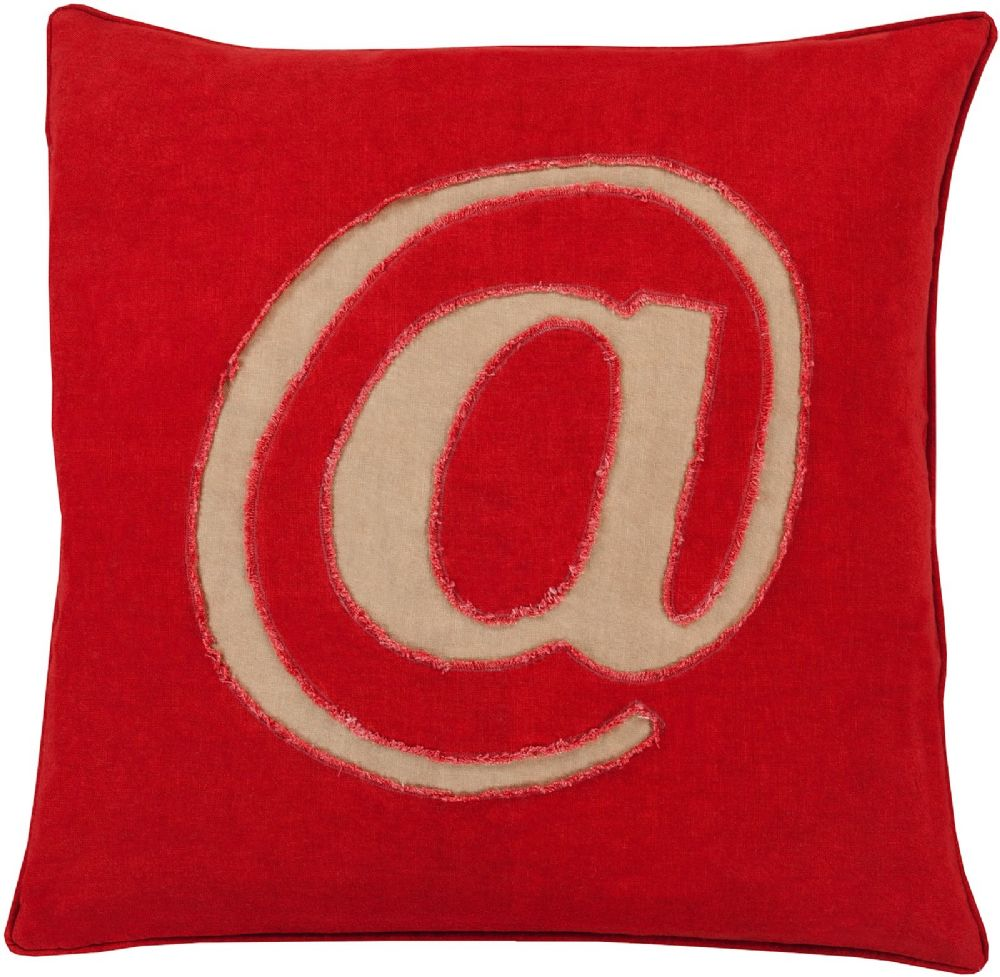 surya linen text contemporary decorative pillow collection