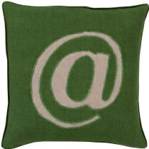 Surya Contemporary Linen Text pillow Collection