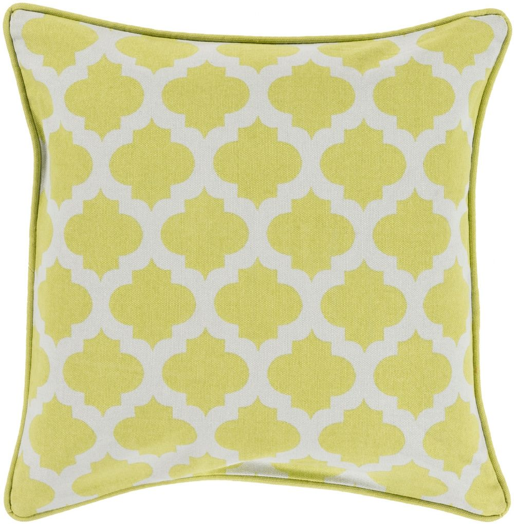 surya moroccan printed lattice contemporary decorative pillow collection