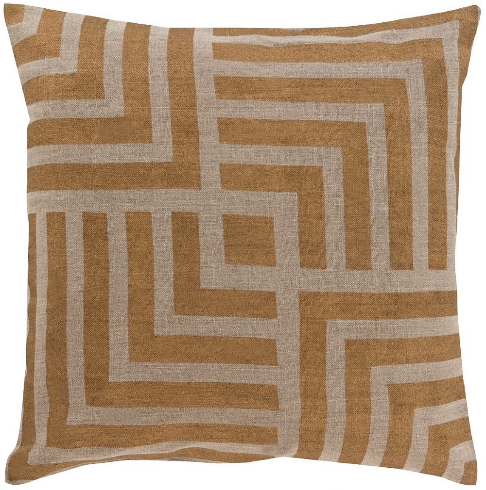 surya metallic stamped contemporary decorative pillow collection