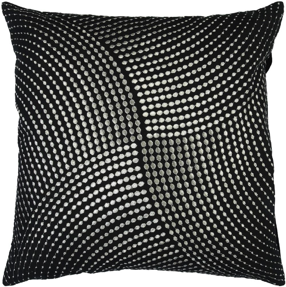surya midnight contemporary decorative pillow collection