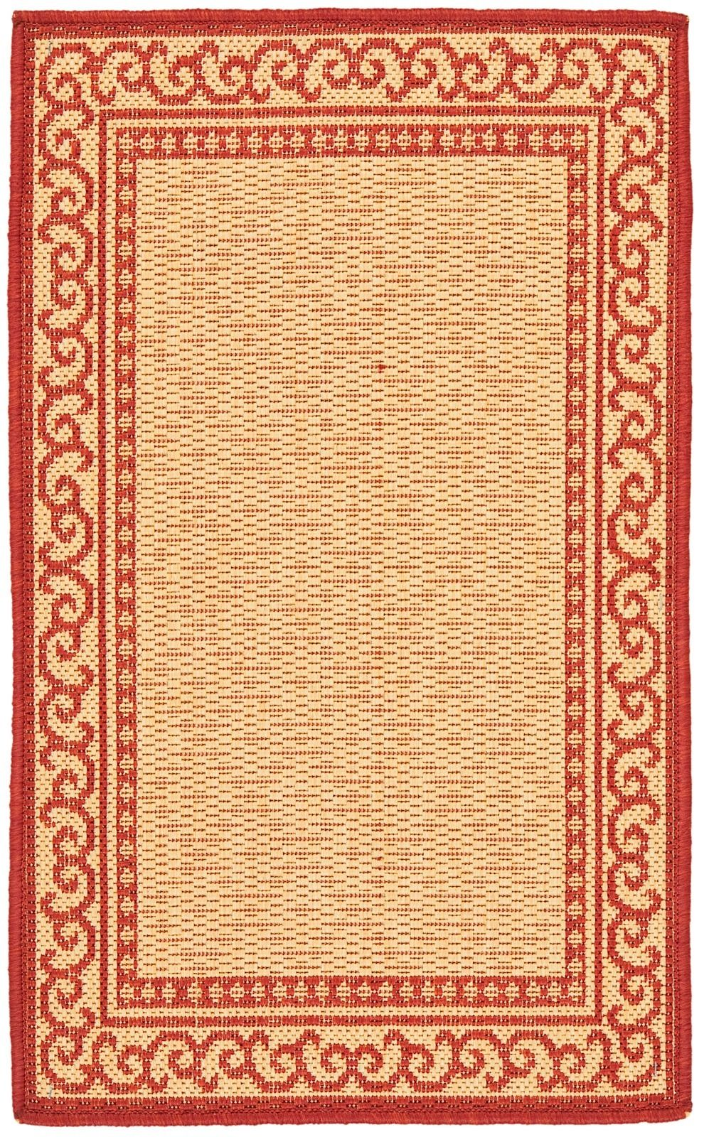 safavieh courtyard - set of 2 (6.6x9.6) & (1.8x2.8) contemporary area rug collection