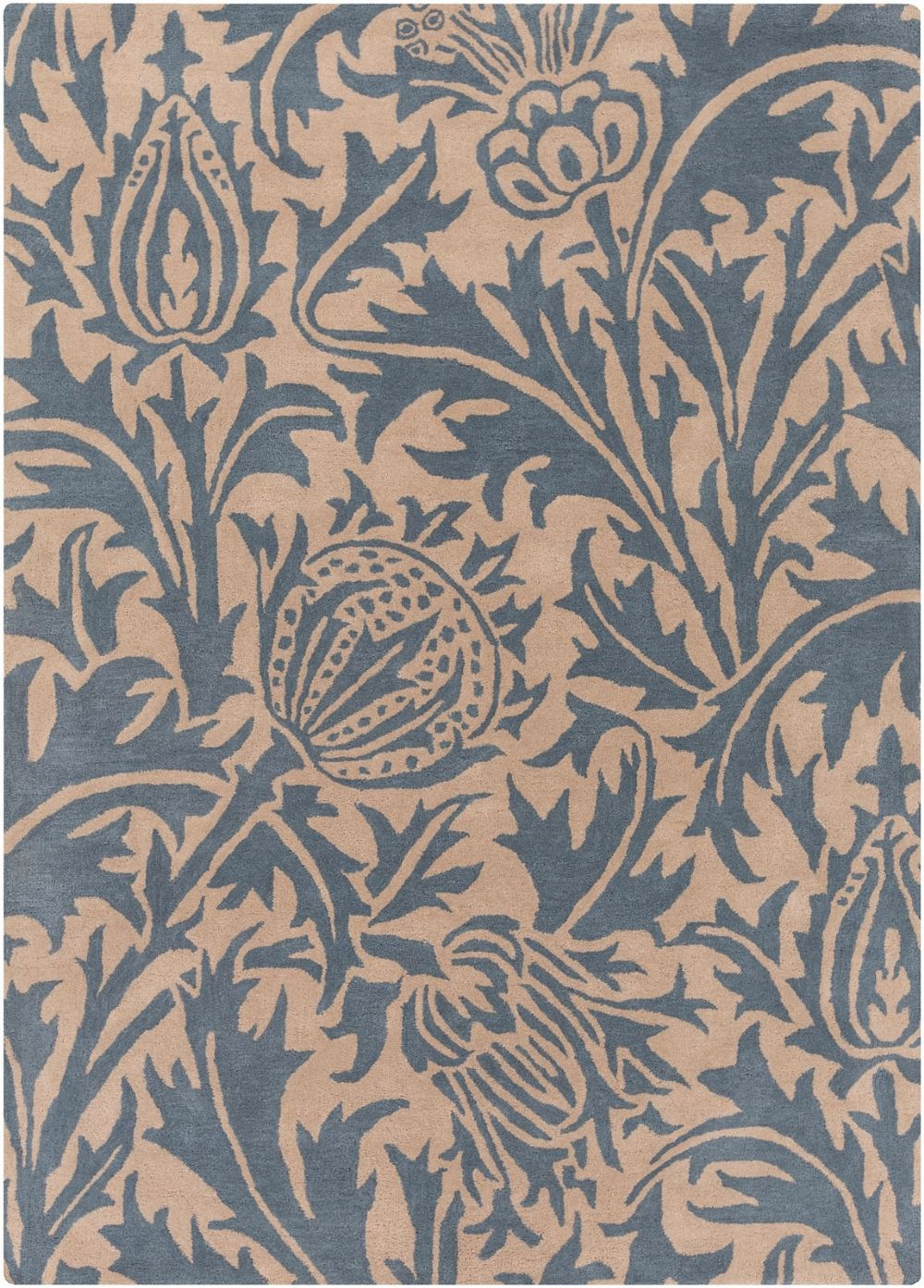 surya william morris country & floral area rug collection