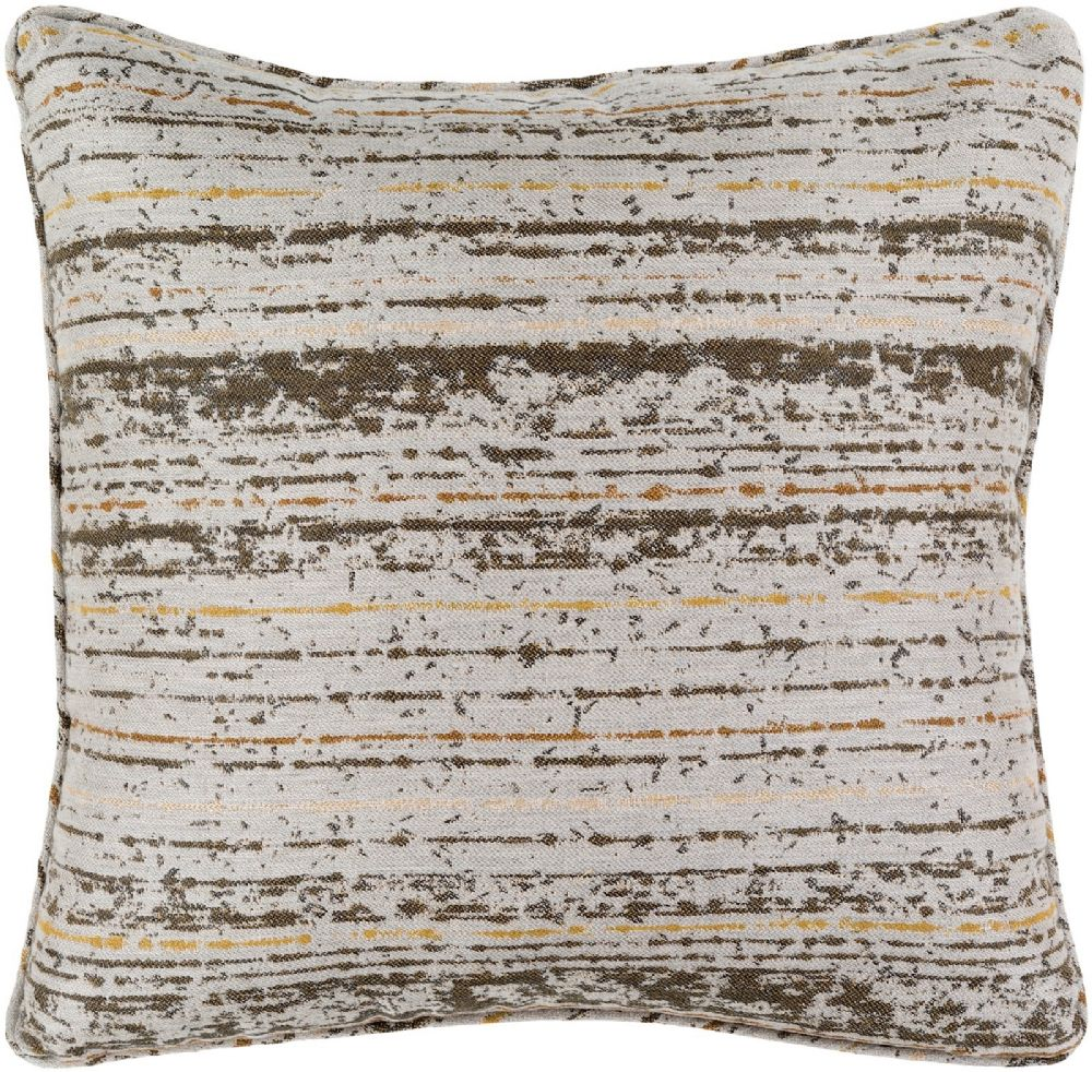 surya arie solid/striped decorative pillow collection