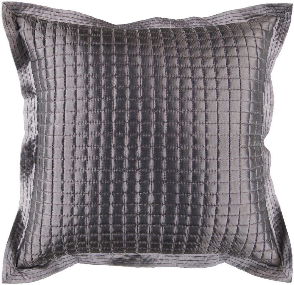 surya quilted solid/striped decorative pillow collection