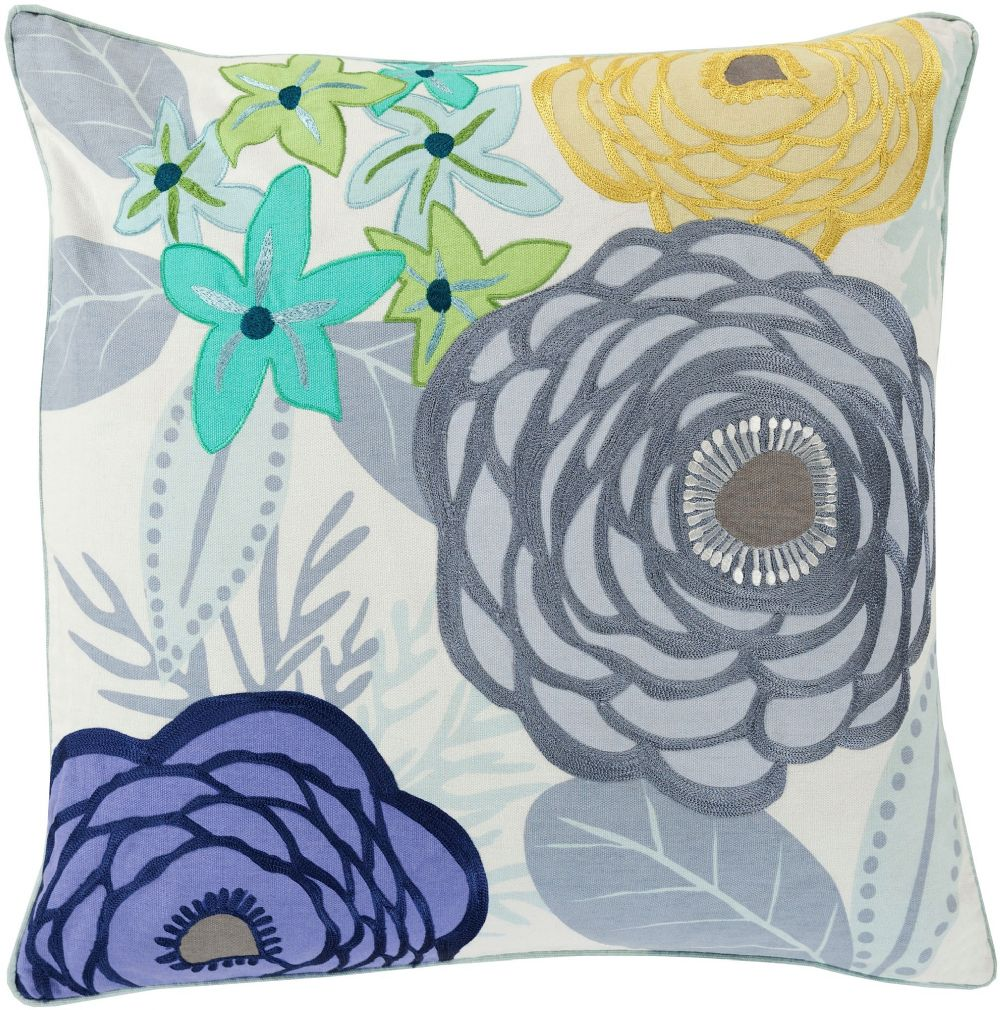 surya buttercup country & floral decorative pillow collection