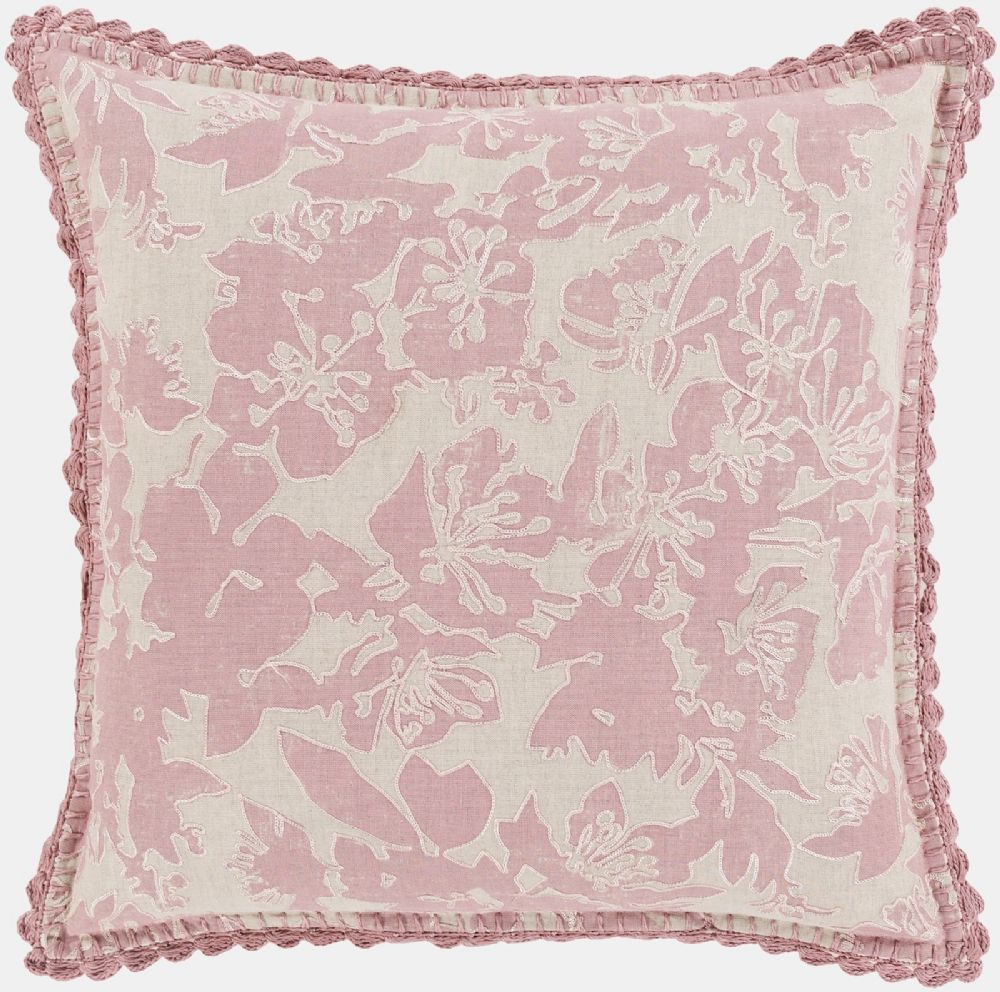 surya evelyn country & floral decorative pillow collection