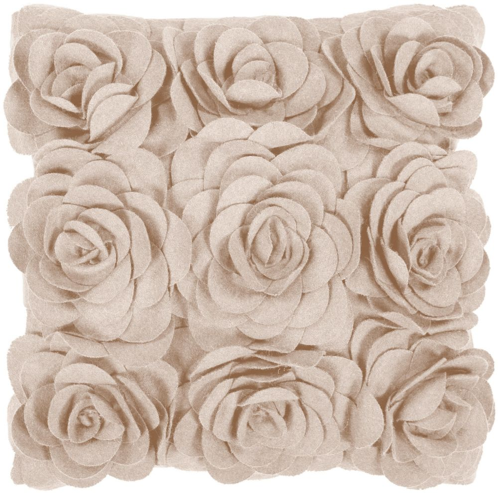surya felted floral country & floral decorative pillow collection