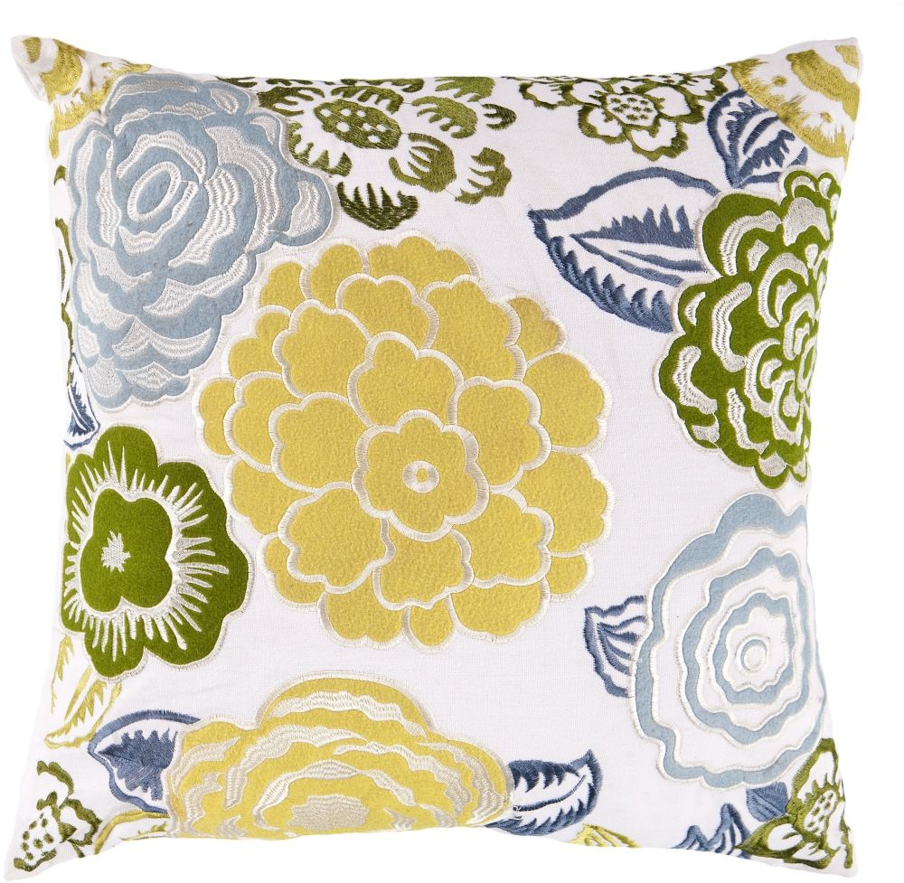 surya botanical country & floral decorative pillow collection