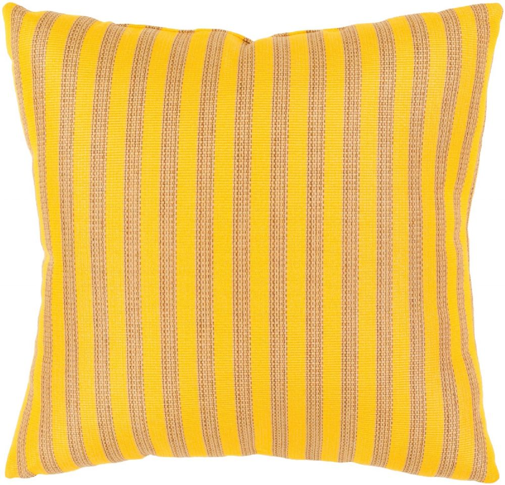 surya finn solid/striped decorative pillow collection