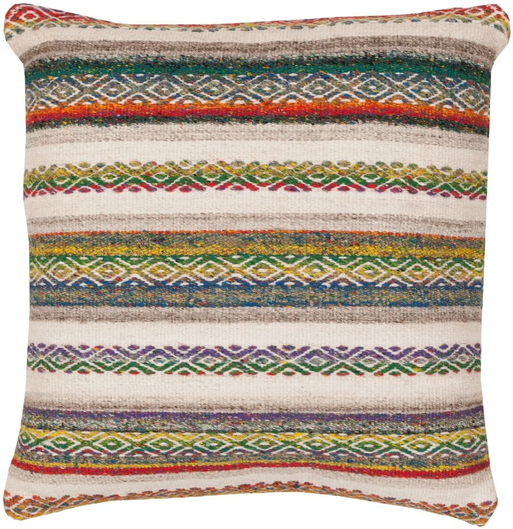 surya isabella solid/striped decorative pillow collection