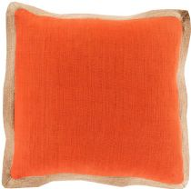 Surya Solid/Striped Jute Flange pillow Collection