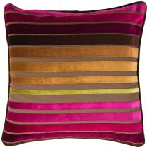 Surya Solid/Striped Velvet Stripe pillow Collection