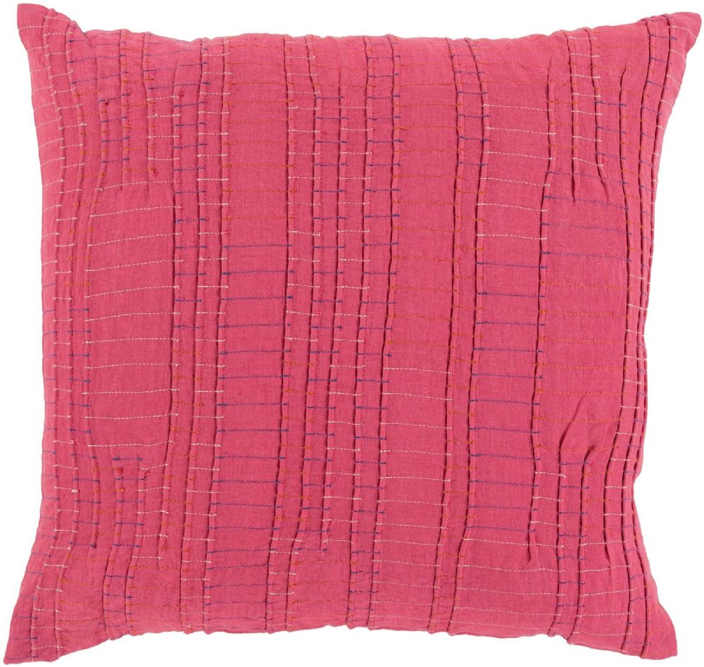 surya keaton solid/striped decorative pillow collection