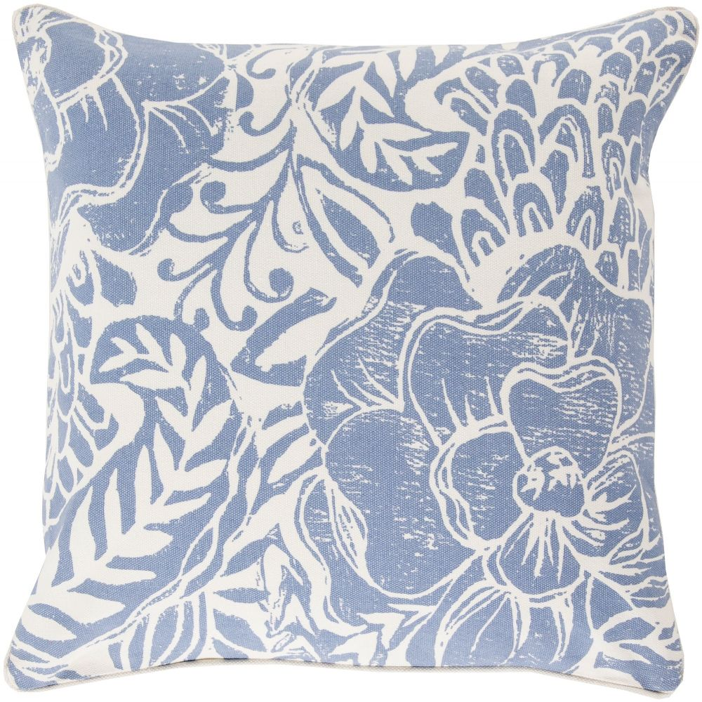 surya floral block print country & floral decorative pillow collection