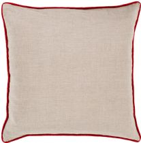 Surya Solid/Striped Linen Piped pillow Collection