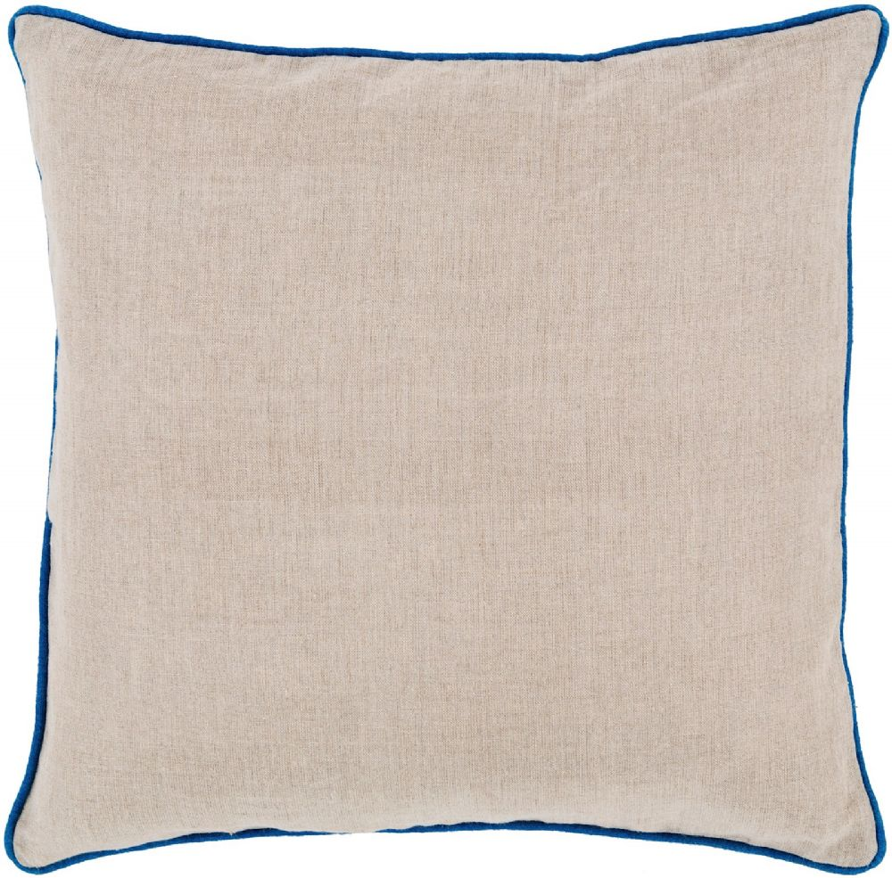 surya linen piped solid/striped decorative pillow collection