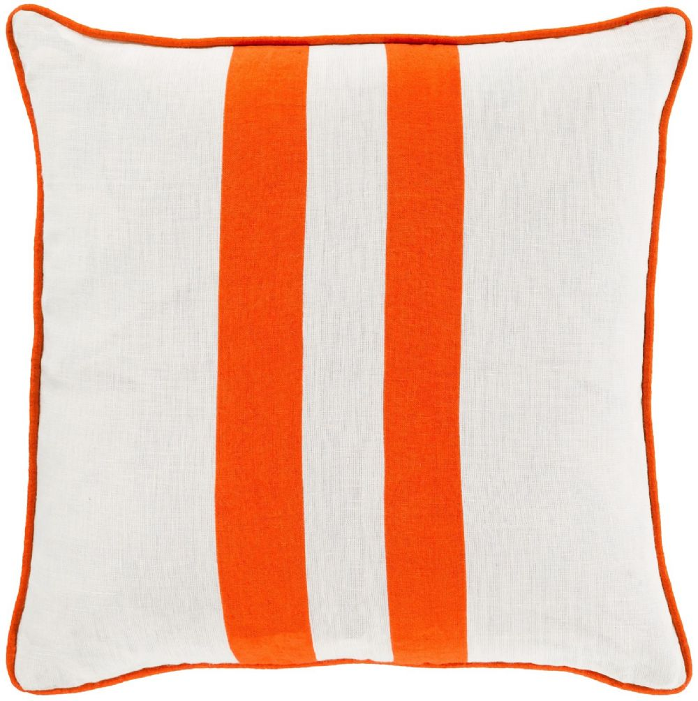 surya linen stripe solid/striped decorative pillow collection
