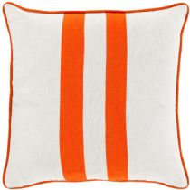 Surya Solid/Striped Linen Stripe pillow Collection
