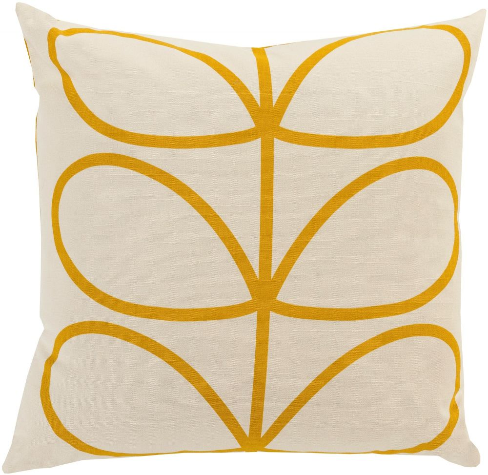 surya linear stem country & floral decorative pillow collection