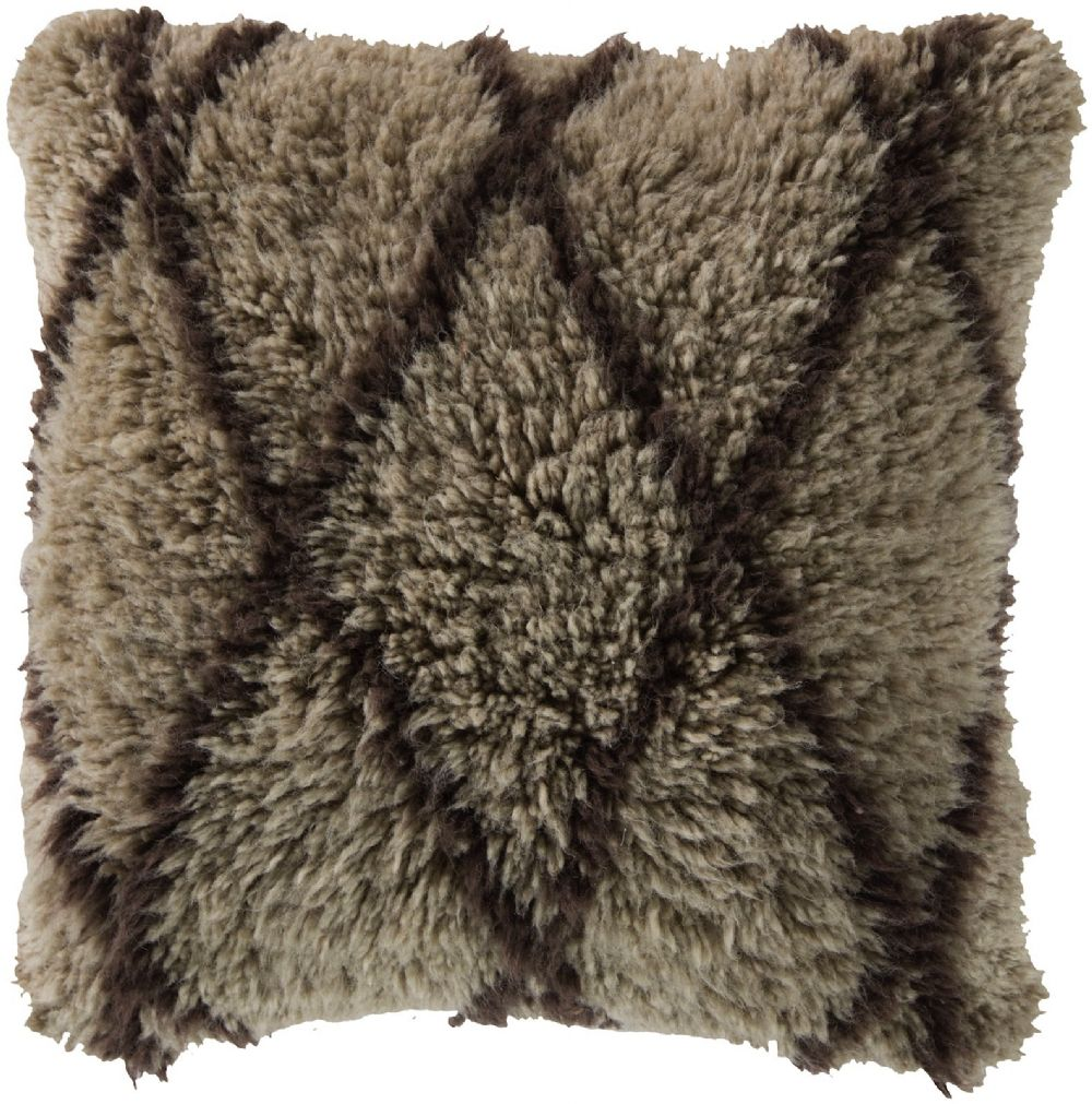 surya mammoth shag decorative pillow collection