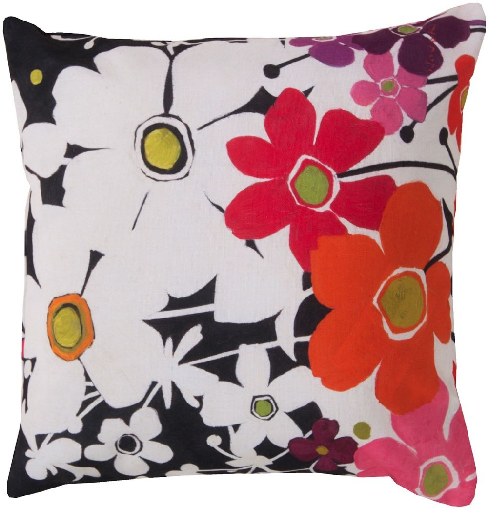 surya rain country & floral decorative pillow collection