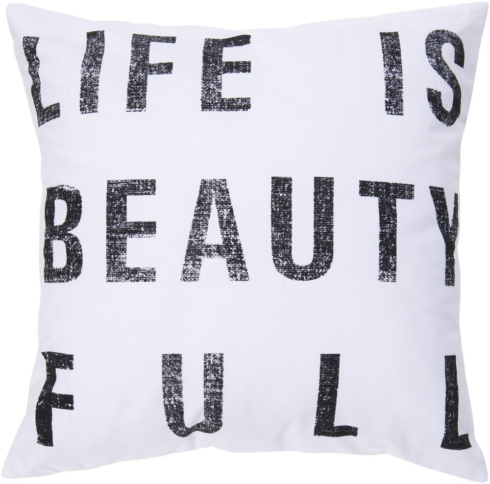 surya typography contemporary decorative pillow collection