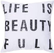 Surya Contemporary Typography pillow Collection
