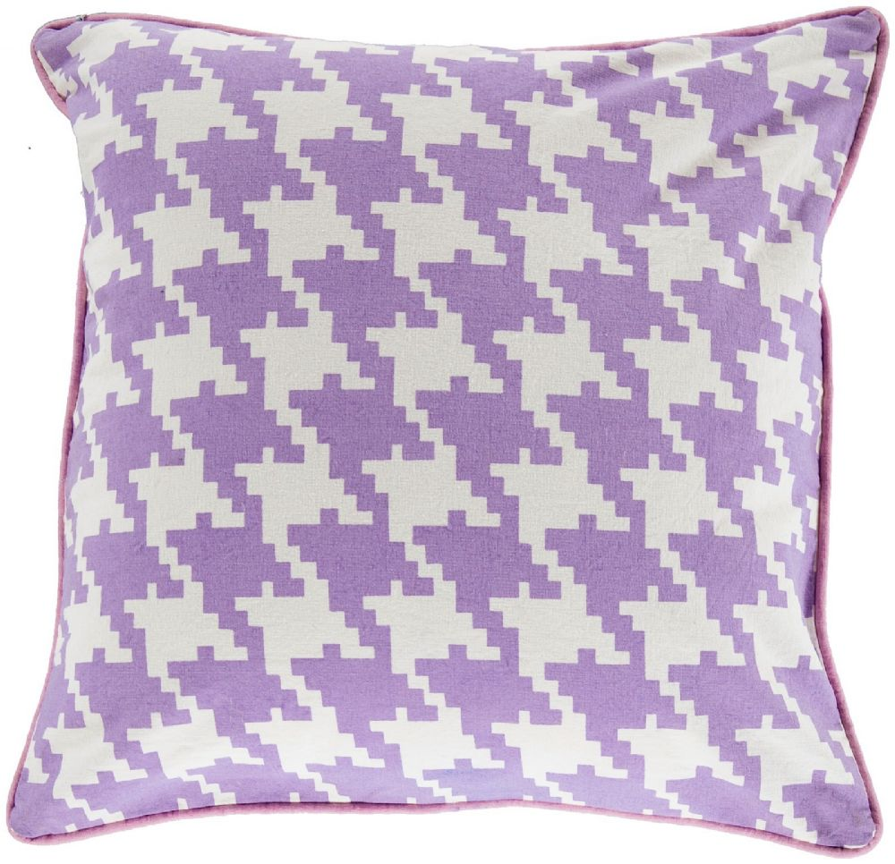 surya houndstooth contemporary decorative pillow collection