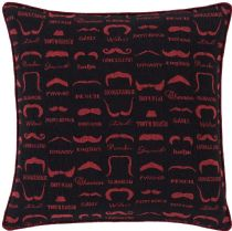 Surya Contemporary Wax that Stache pillow Collection