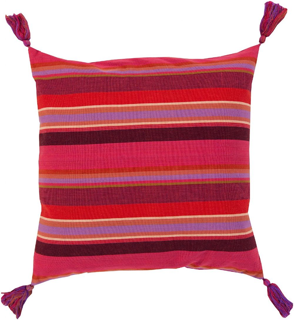 surya stadda stripe solid/striped decorative pillow collection