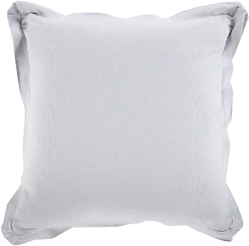 surya triple flange solid/striped decorative pillow collection
