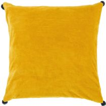 Surya Solid/Striped Velvet Poms pillow Collection