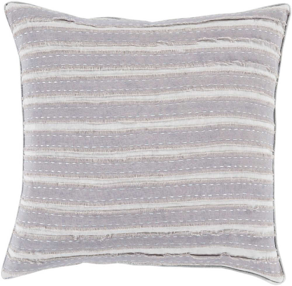 surya willow solid/striped decorative pillow collection